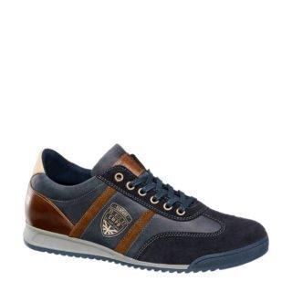 Venture by Camp David leren sneakers met strepen donkerblauw (heren) (blauw)