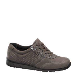 vanHaren Medicus leren sneakers grijs (grijs)