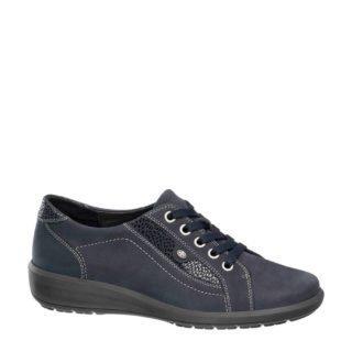 vanHaren Medicus leren sneakers donkerblauw (blauw)