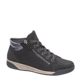 vanHaren Medicus nubuck sneakers met siersteentjes zwart (zwart)