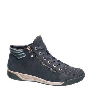 vanHaren Medicus nubuck sneakers met siersteentjes blauw (blauw)