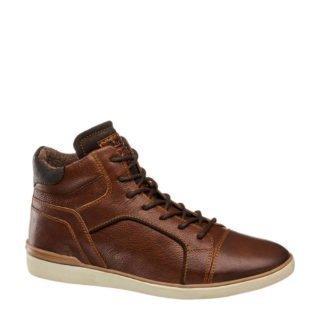 vanHaren AM SHOE leren sneakers (heren) (bruin)
