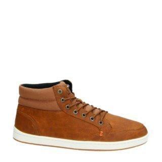 Hub leren sneakers cognac (heren) (bruin)