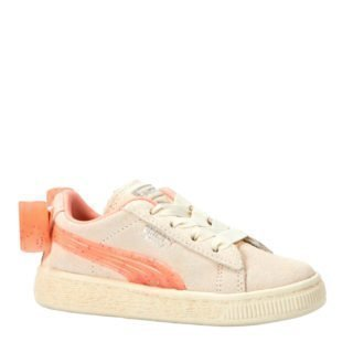 Puma Suede Bow Jelly PS sneakers wit/oranje (wit)