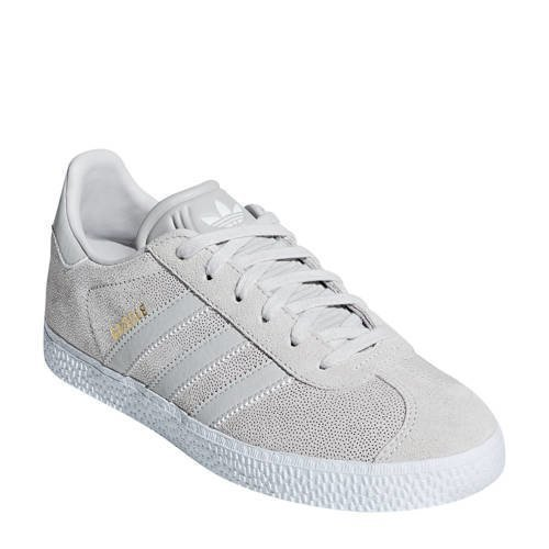 61cd7a30a72 adidas originals Gazelle J sneakers wit/zilver (wit)   F34555   adidas