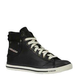 Diesel Exposure I leren sneakers zwart (zwart)