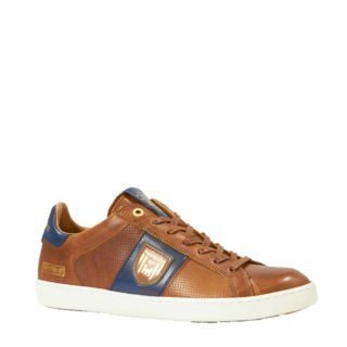 Pantofola d'Oro Sorrento Uoma Low leren sneakers cognac (bruin)