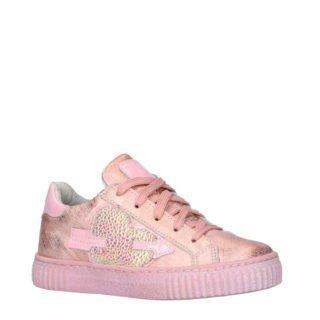 JOCHIE&FREAKS sneakers met print en glitter roze (roze)