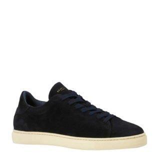 SELECTED HOMME suède sneakers donkerblauw (blauw)
