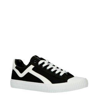 SELECTED HOMME SLHERIC CANVAS TRAINER W sneakers zwart/wit (zwart)