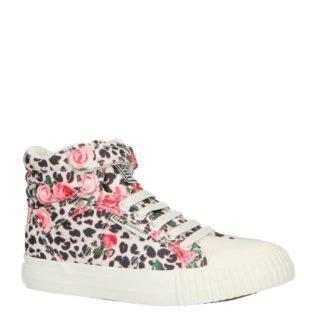 British Knights Dee sneakers met panterprint (roze)