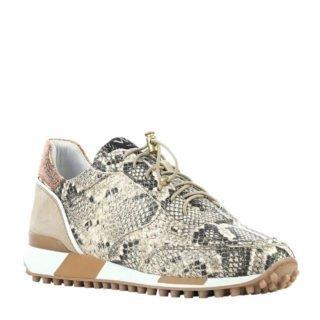 Via Vai leren sneakers met slangenprint beige (beige)