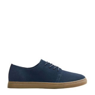 Mango Man suède sneakers donkerblauw (blauw)