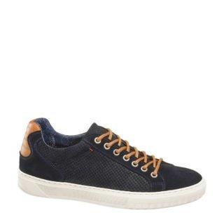 vanHaren AM SHOE suède sneakers donkerblauw (blauw)