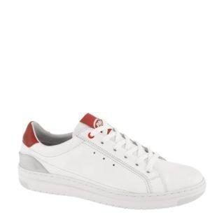 AM SHOE leren sneakers wit/rood (wit)