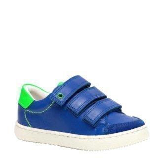 Groot leren sneakers blauw (blauw)
