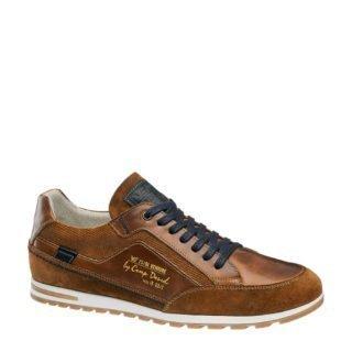 Venture by Camp David leren sneakers cognac (bruin)