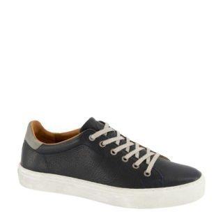 AM SHOE leren sneakers wit (blauw)