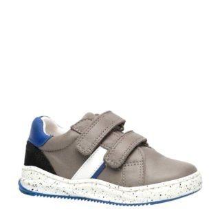 Groot leren sneakers grijs (grijs)