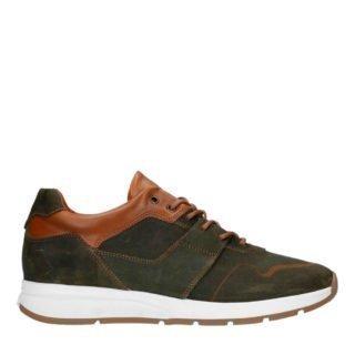 Manfield leren sneakers bruin (bruin)