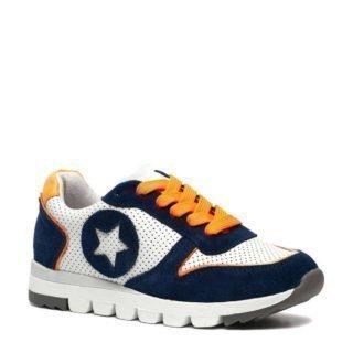Groot leren sneakers blauw/wit (blauw)