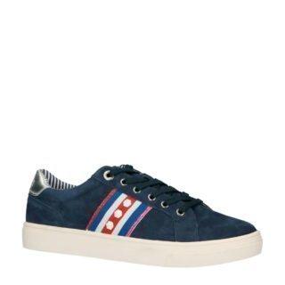 s.Oliver suède sneakers donkerblauw (blauw)