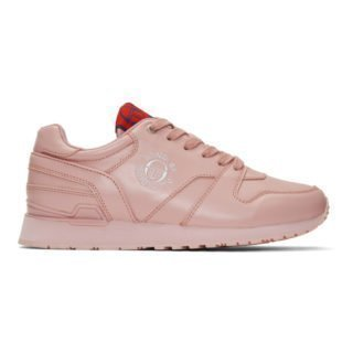 Band of Outsiders Pink Sergio Tacchini Edition Leather Sneakers