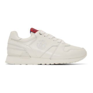 Band of Outsiders White Sergio Tacchini Edition Leather Sneakers