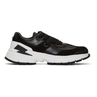 Neil Barrett Black Bolt01 Sneakers