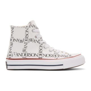 JW Anderson White Converse Edition Grid Logo Chuck 70 Hi Sneakers