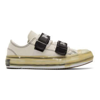 Palm Angels White Velcro Vulcanized Sneakers