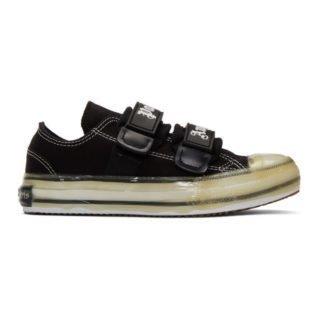 Palm Angels Black Velcro Vulcanized Sneakers
