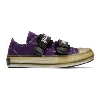 Palm Angels Purple Velcro Vulcanized Sneakers