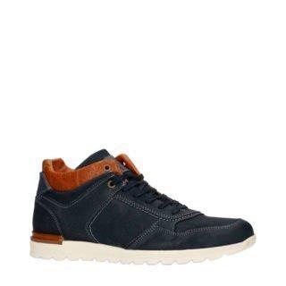 Manfield suède sneakers blauw (blauw)