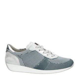 Ara Fushion 4 sneakers met leer (zilver)