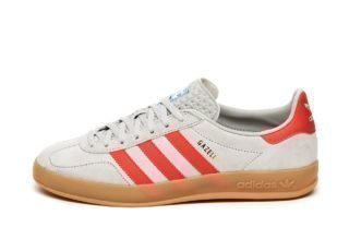 adidas Gazelle Indoor (Grey Two / Active Red / Blue Bird)