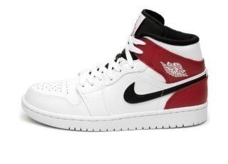 Nike Air Jordan 1 Mid (White / Black - Gym Red)