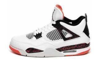 Nike Air Jordan 4 Retro *Bright Crimson* (White / Black - Bright Crims