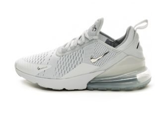 Nike Air Max 270 (Pure Platinum / Chrome - Black - Metal Silver)