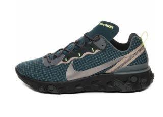 Nike React Element 55 (Armory Navy / Metallic Dark Grey - Volt)