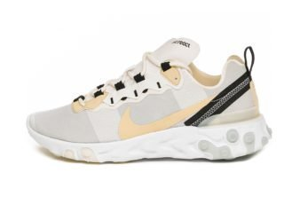 Nike React Element 55 (White / Pale Vanilla - Black - Pale Ivory)