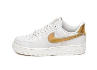 Nike Wmns Air Force 1 '07 MTLC (Vast Grey / Metallic Gold - Summit Wh