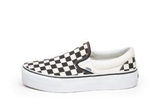 Vans Classic Slip-On Platform (Black & White Checkerboard / White)