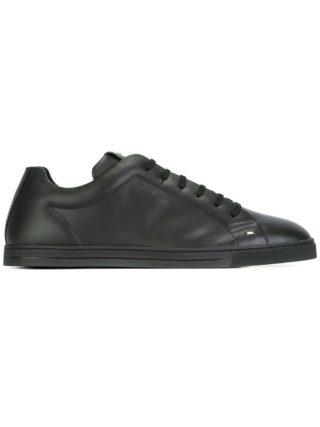 Fendi geperforeerde vetersneakers (zwart)