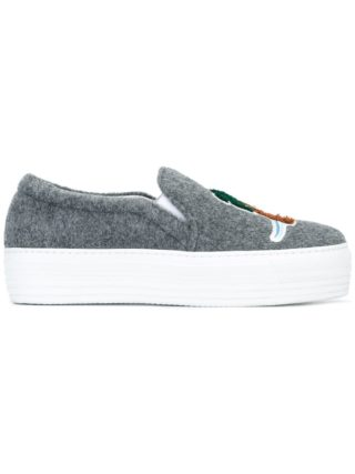 Joshua Sanders patched slip-on sneakers (grijs)