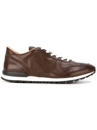 Tod's geruite sneakers (bruin)