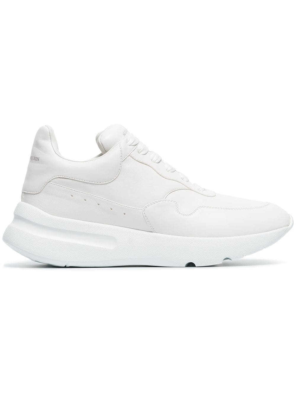 6ffc73f69d1 ... Alexander McQueen optical white Runner oversized leather sneakers - Wit  ...