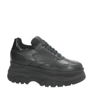 PS Poelman leren Chunky dad sneakers zwart (zwart)