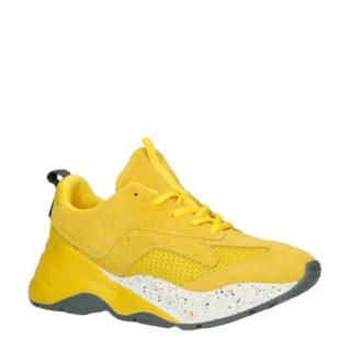 Bianco suède sneakers geel (geel)