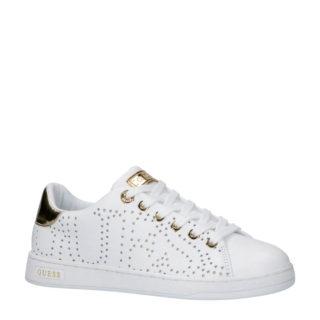 GUESS Carterr leren sneakers wit (wit)